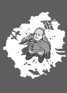 Holmenkollen tegning Eldar Vågan